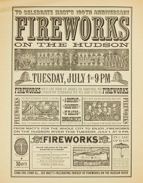 fireworks poster for year 1958