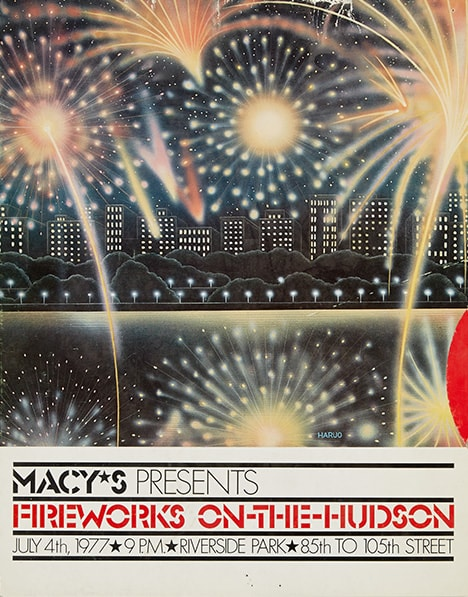 fireworks poster for year 1977