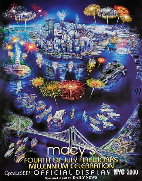 fireworks poster for year 2000
