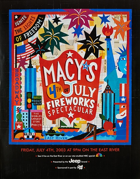 fireworks poster for year 2003