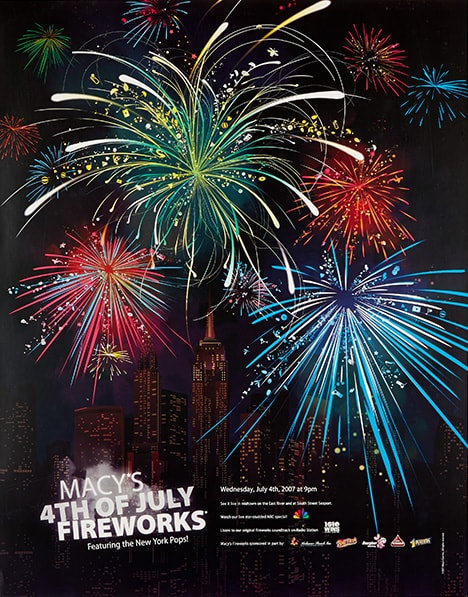 fireworks poster for year 2007