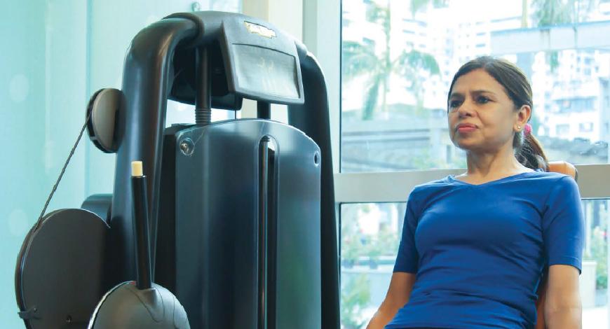UNWIND: WALKING AT AIRPORTS KEEPS YASHASWINI SAMAT FIT