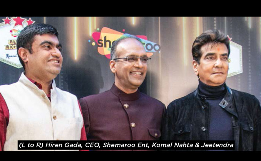 SHEMAROOME AND KOMAL NAHTA LAUNCH CHAT SHOW