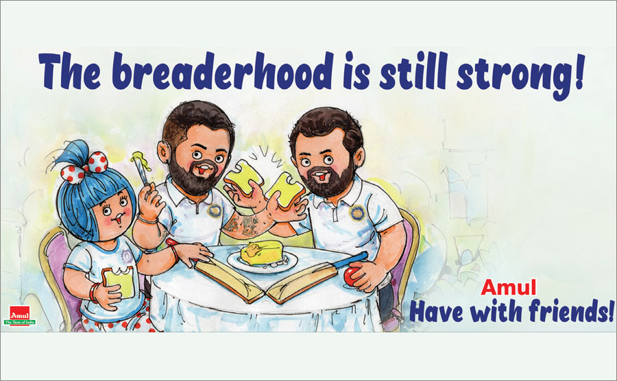 AMUL TOPICAL IS MOST MAJESTIC ON A HOARDING