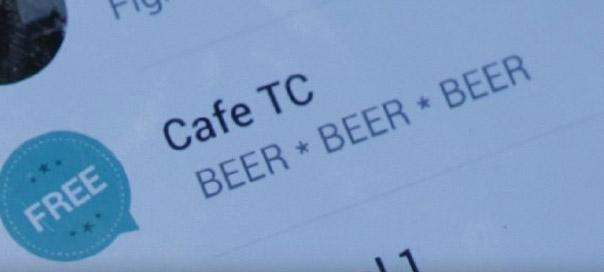 Mobile: Café TC – Liquor ticker