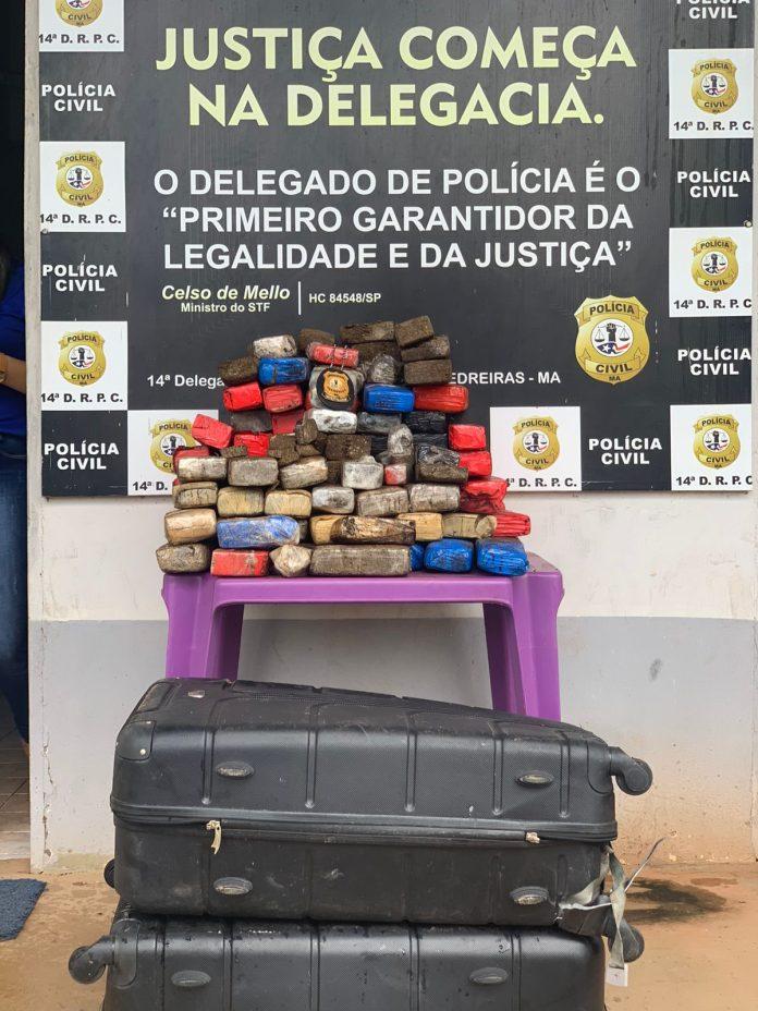 Polícia apreende cerca de R$ 200 mil em maconha no Maranhão