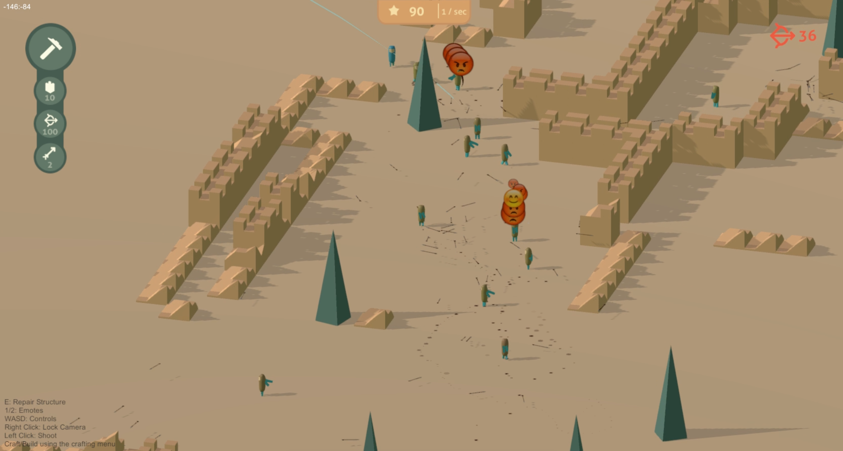 SpatialOS games like Rainbow can have instant drop-in, drop-out gameplay.