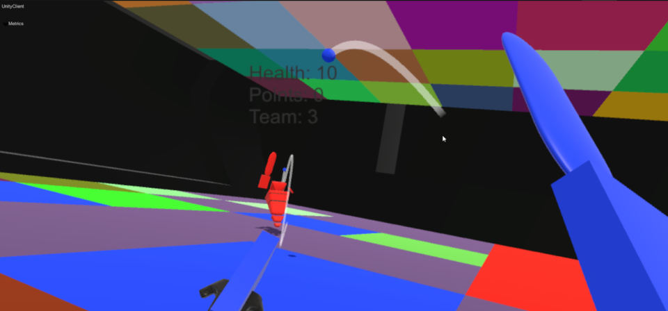 A team in our recent gamejam was able to make a basic and engaging bat-and-ball VR game in SpatialOS.