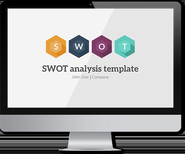 swot powerpoint template � improve presentation
