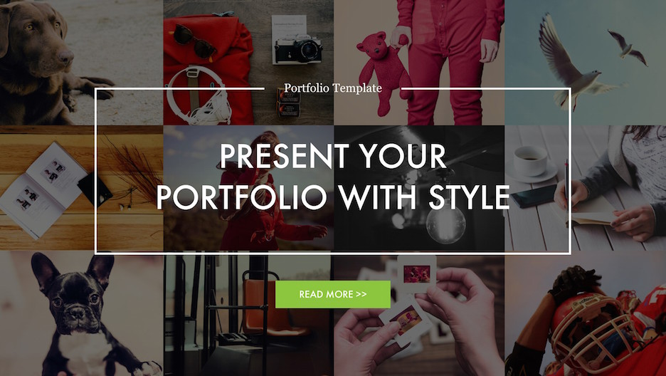 Title Slide of Portfolio PowerPoint Template