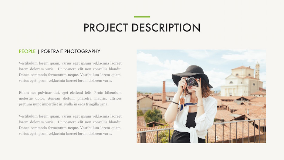 Project Details Slide - Title, 1 Big Photo, and Description | Portfolio PowerPoint Template