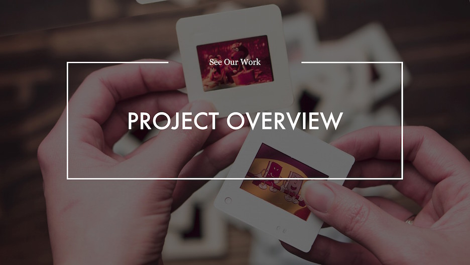 Project Overview Section Slide | Portfolio PowerPoint Template