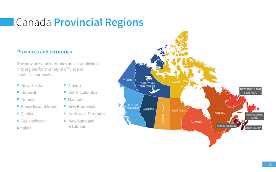canada map presentation template � improve presentation