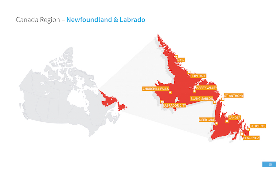 canada map for powerpoint � improve presentation