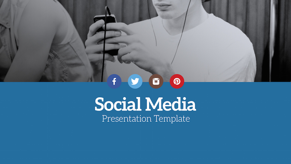 social media presentation template | improve presentation, Presentation templates