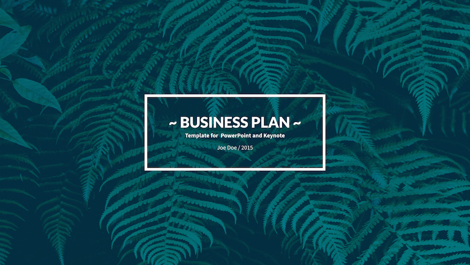 Business Plan Keynote Template Improve Presentation - Keynote business plan template