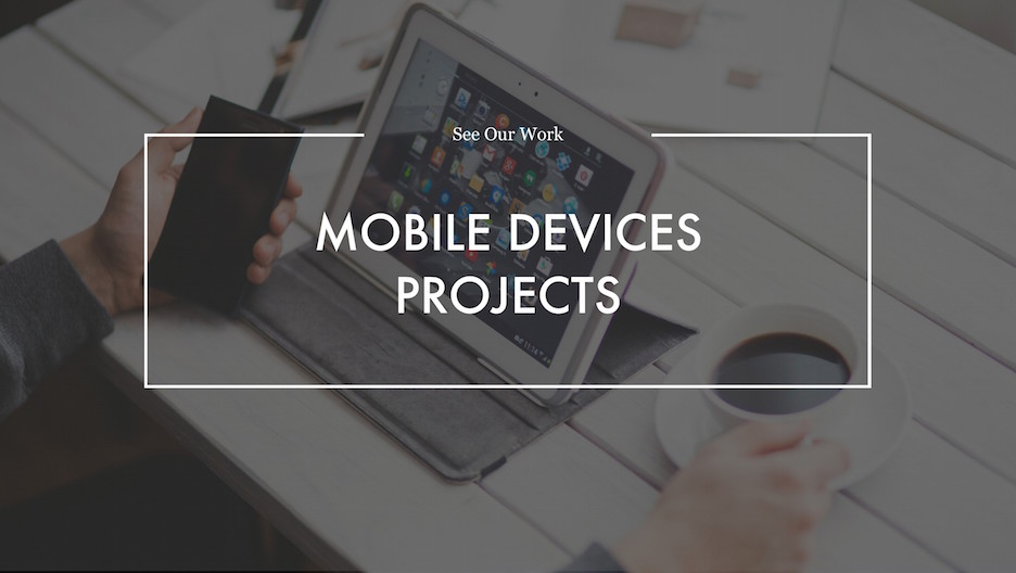 Mobile Devices Projects Section Slide | Portfolio PowerPoint Template
