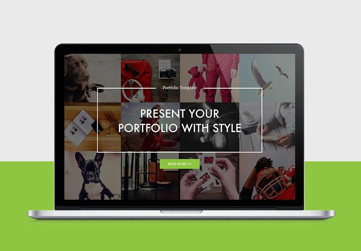 Professional presentation templates improve presentation portfolio powerpoint template toneelgroepblik Gallery