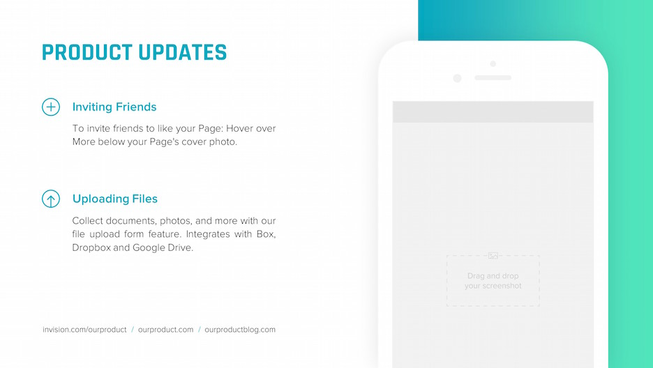 product updates iphone mockup slide | startup investor update ppt template