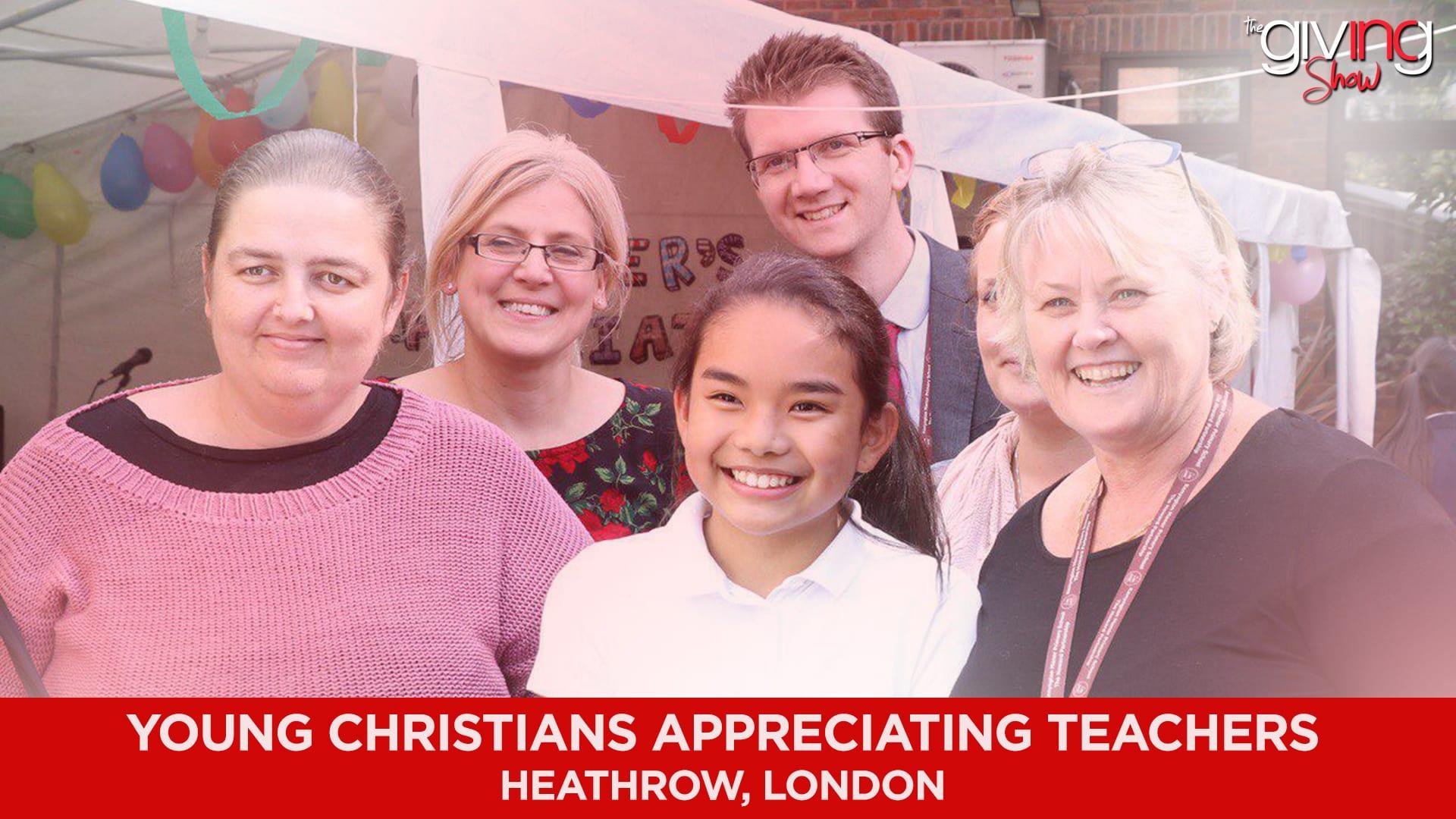 Young Christians Appreciating Teachers