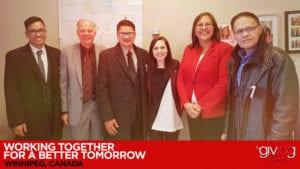 Group photo of Judy Klassen, Jimi Cruz and the Church of Christ.