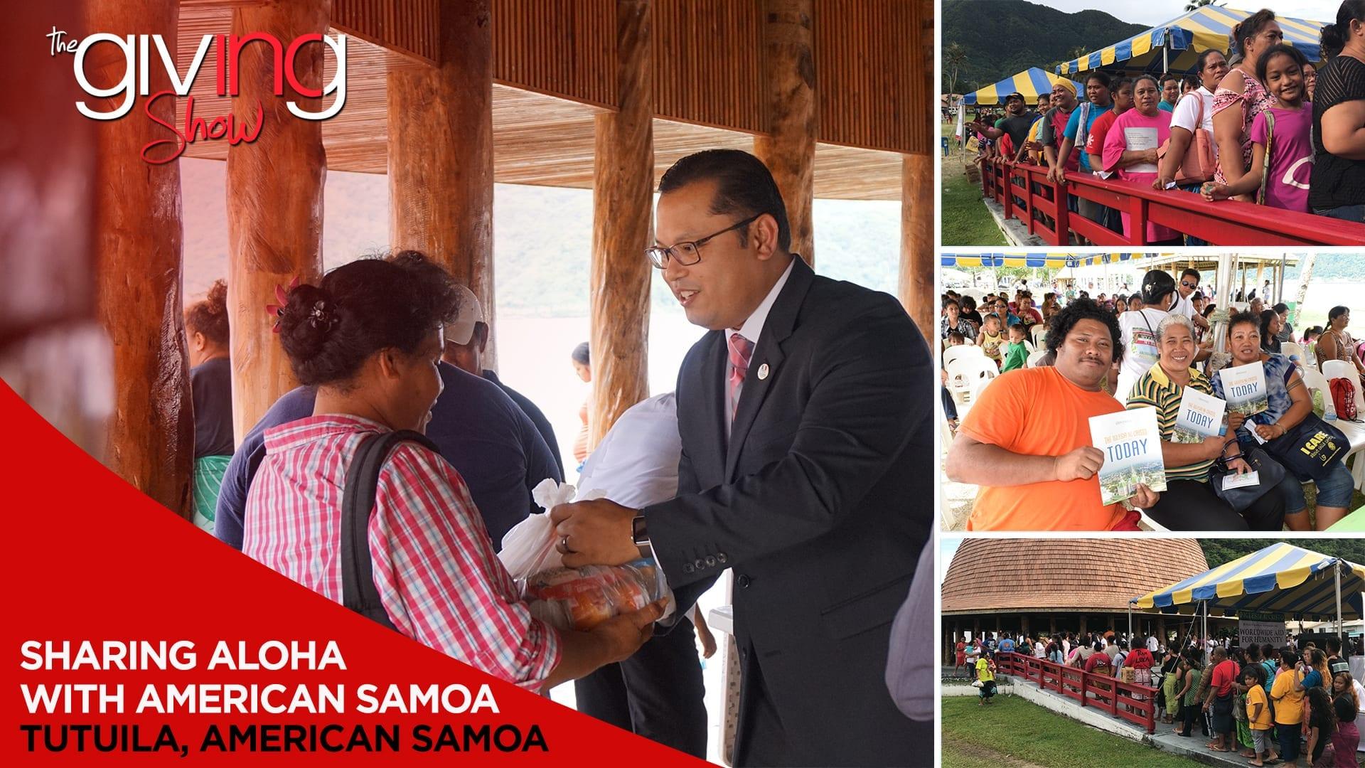 Greeting American Samoa with Goods