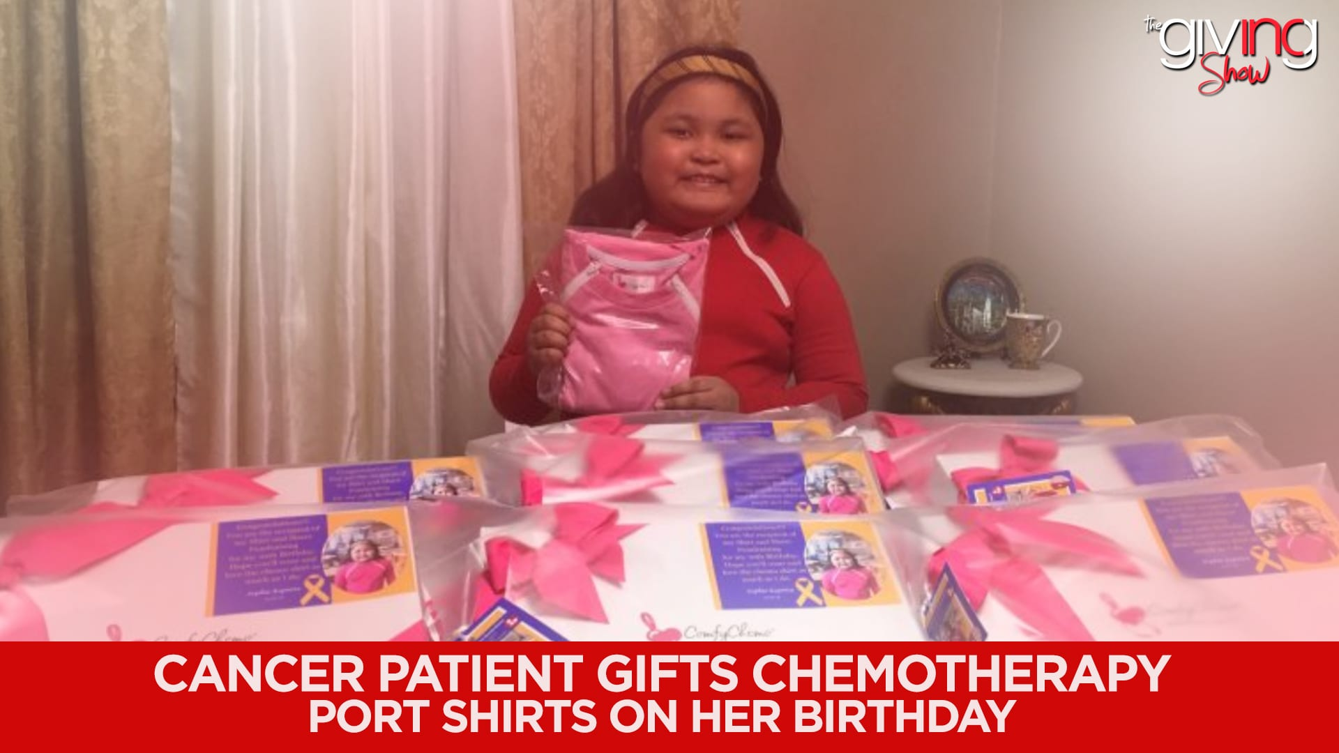 Cancer Patient Gifts Chemotherapy Port Shirts on Her Birthday