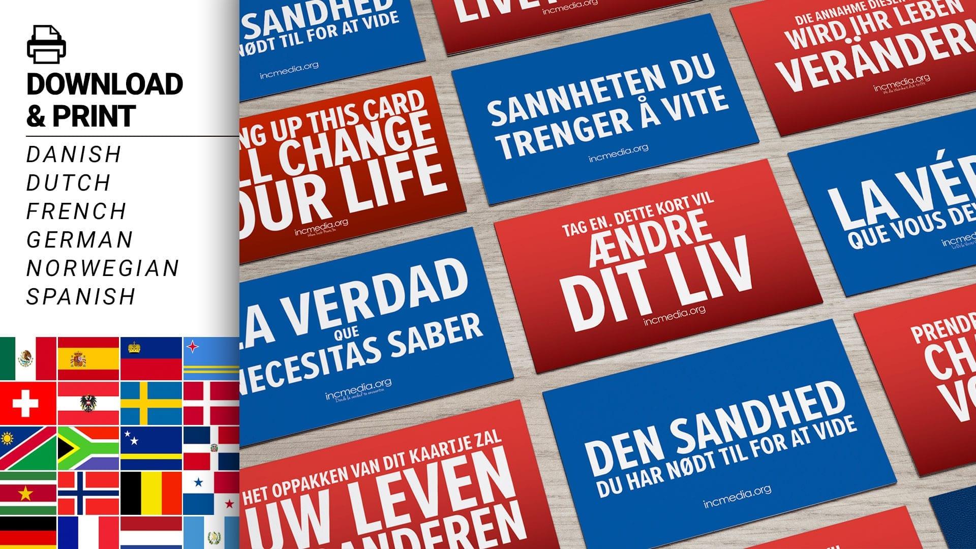 inc media cards in european language