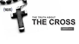 "Crucifix with text ""The Truth About the Cross"""
