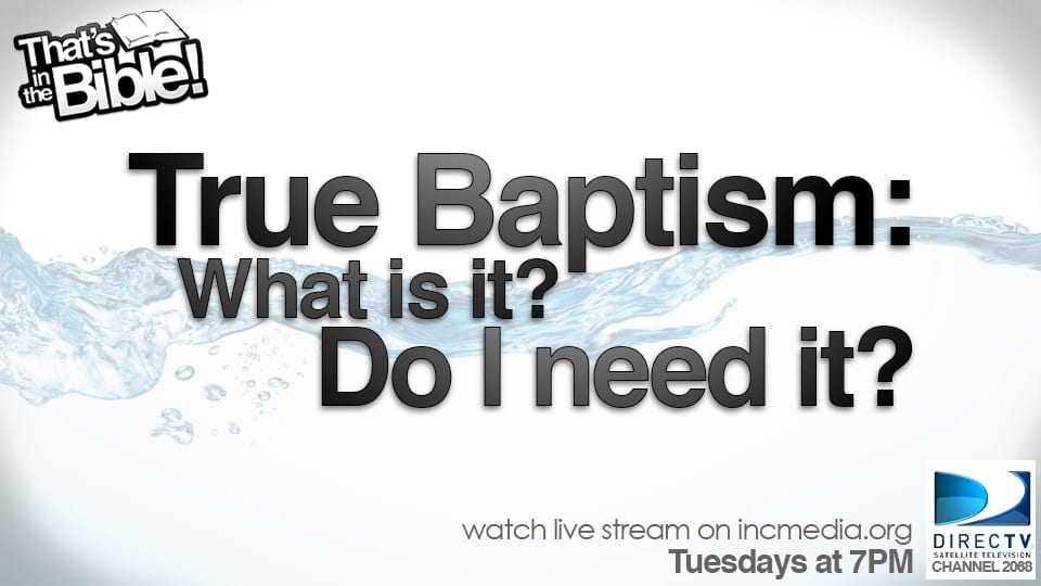 Why is Baptism Necessary?