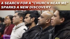 Guests listening to a worship service