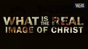 "Text Overlay of ""What is the Image of Christ"" Over Images of ""Jesus"""