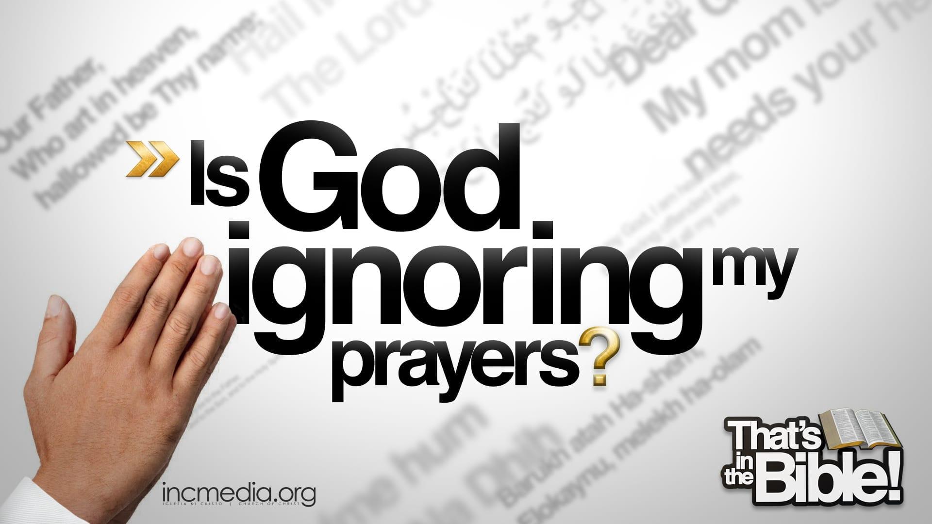 Does God Hear Me?