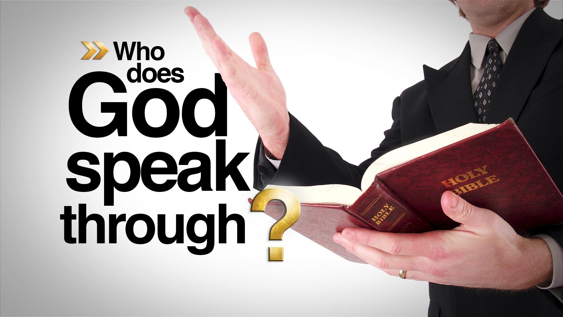 How Does God Speak to Me?