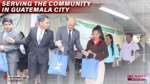 Happy recipients receive care packages