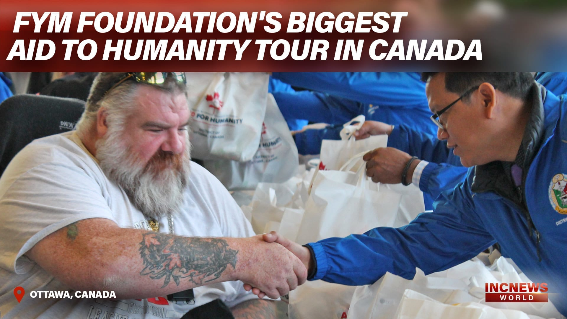 FYM Foundation's Biggest Aid To Humanity Tour in Canada