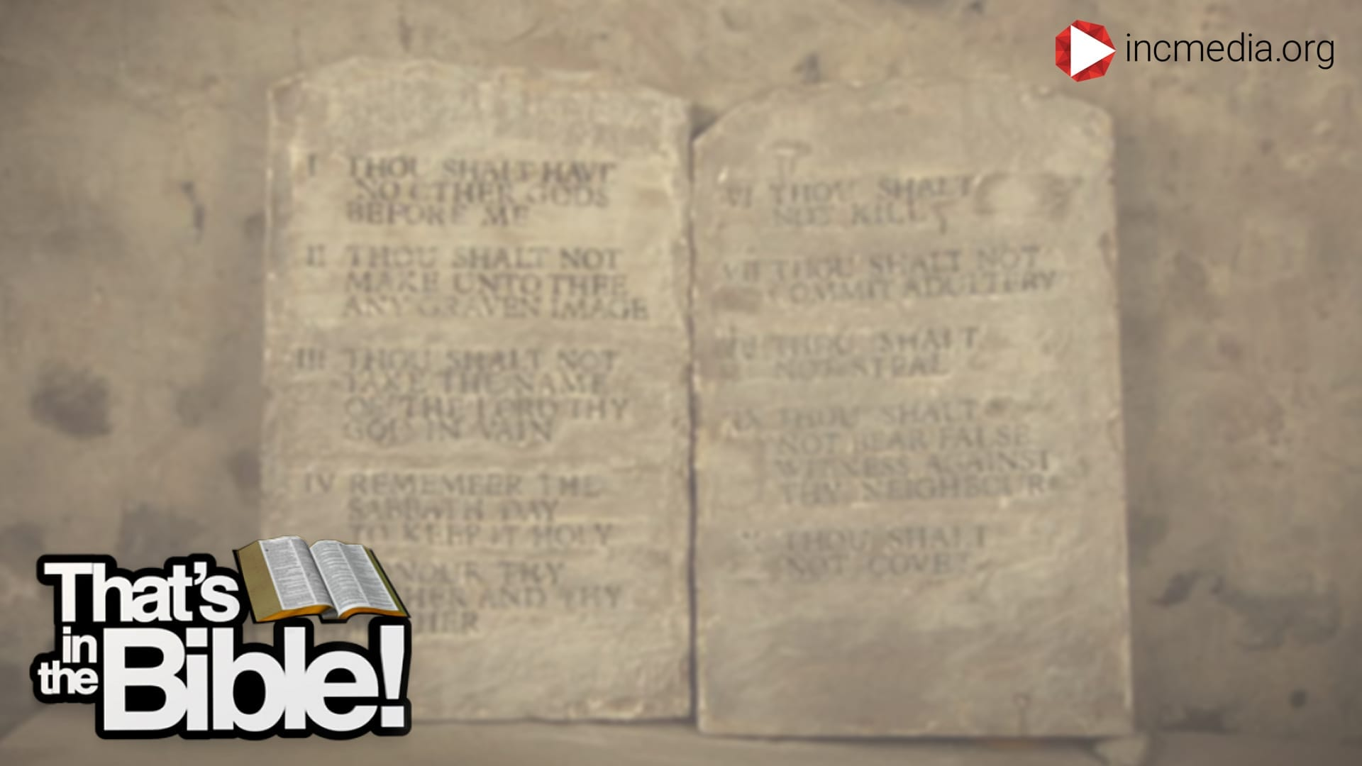 stone tablets with text