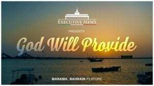 God will provide with a Sunset in the background. Manama Bahrain Feature
