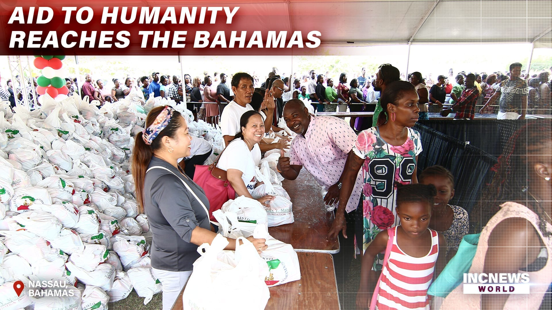 AID TO HUMANITY REACHES THE BAHAMAS