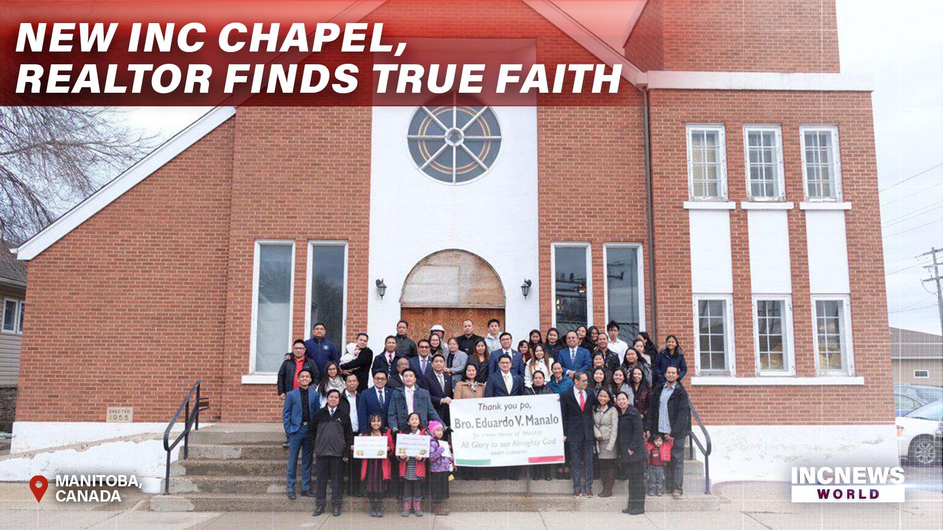 New INC Chapel, Realtor Finds True Faith