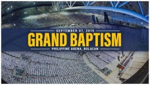 september 07, 2019 grand baptism philippine arena, bulacan