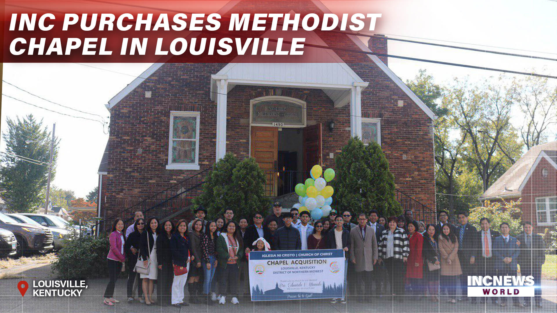 INC Purchases Methodist Chapel in Louisville