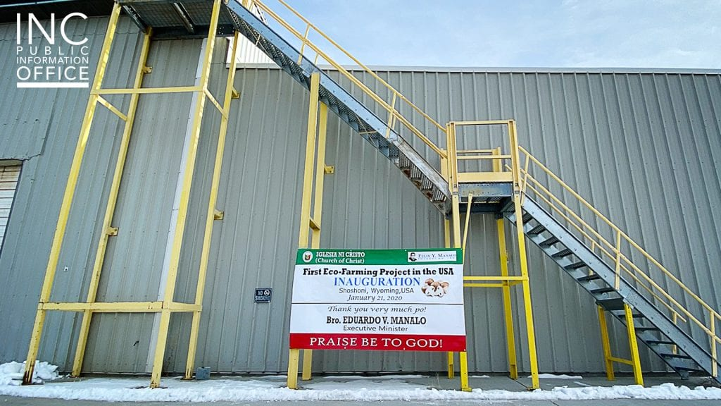 The 163-acre mushroom factory in Shoshoni, Wyoming is now home to the first U.S. eco-farming project of the Iglesia Ni Cristo (INC or Church Of Christ), inaugurated on Jan. 21, 2020. What once harvested mushrooms and produced a means of livelihood for the township will soon be restored and improved to rebuild opportunities for Fremont County, Wyoming.