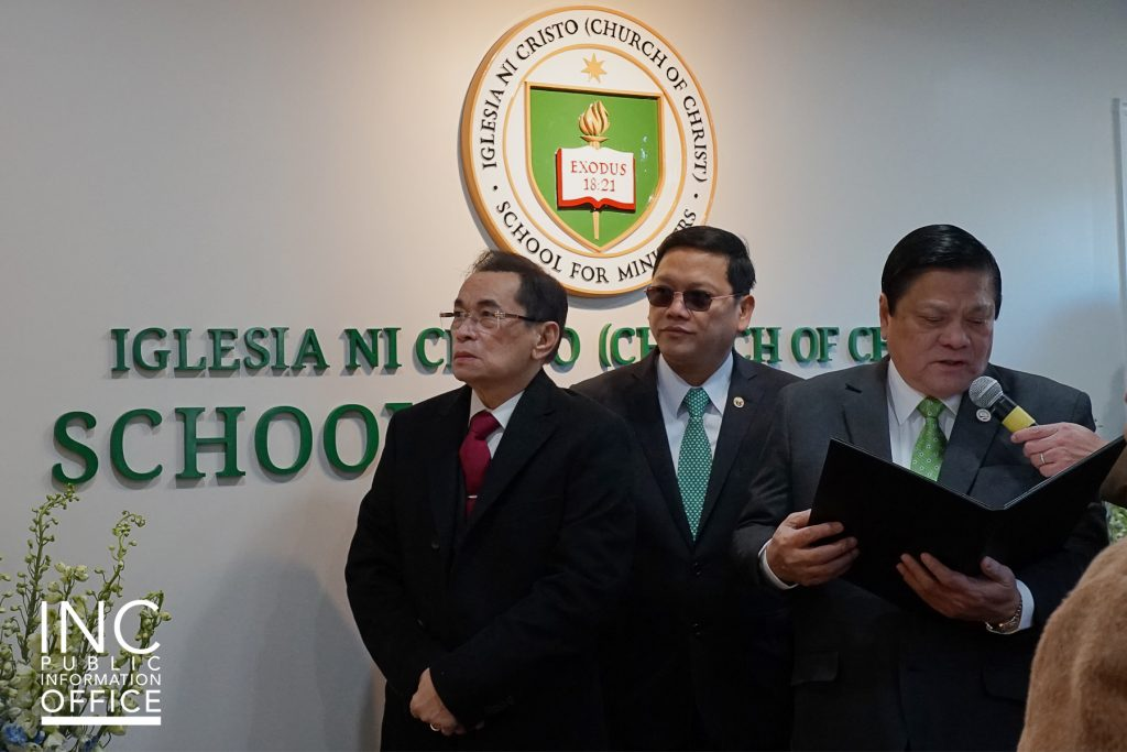 The Iglesia Ni Cristo (Church Of Christ) School For Ministers (SFM) inauguration in Johnsonville, Connecticut was led by INC General Auditor Brother Glicerio B. Santos Jr. and SFM Director Brother Emiliano C. Magtuto Jr.