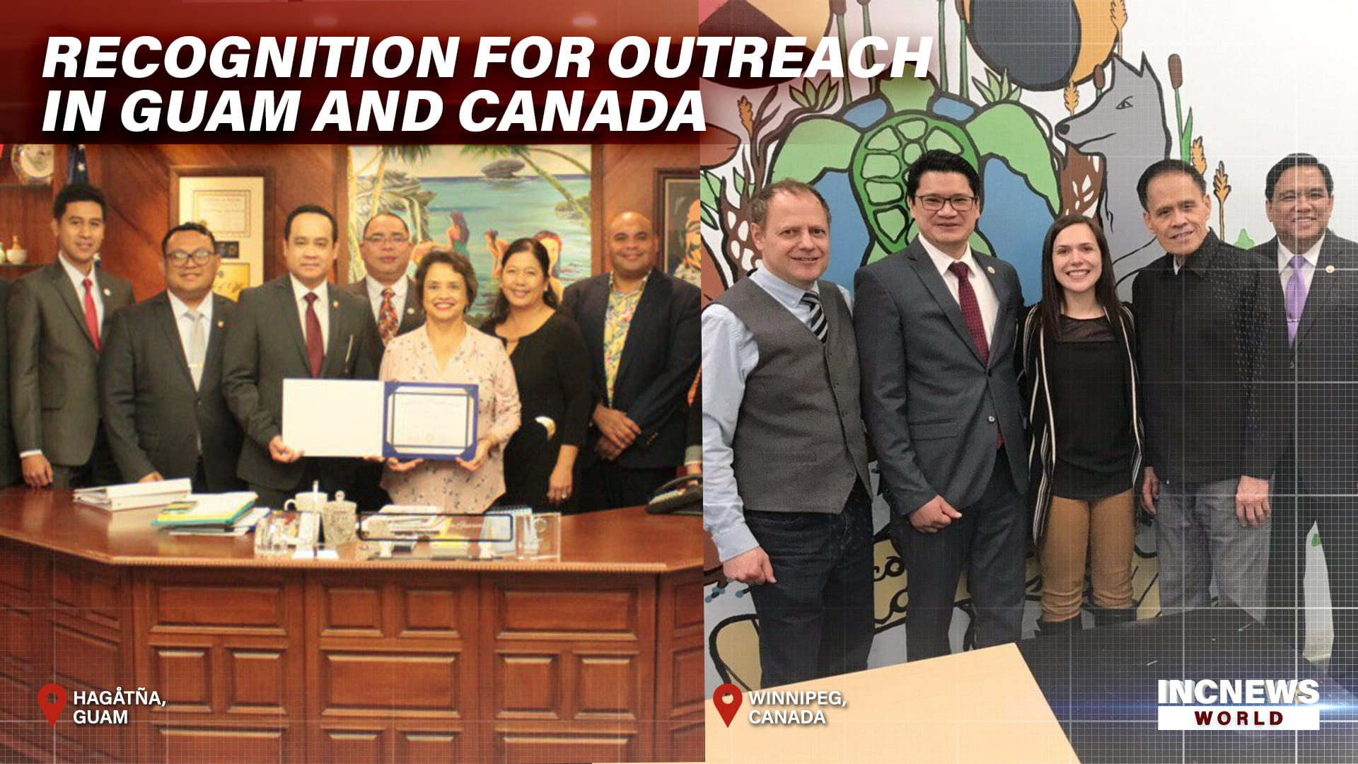 Recognition for Outreach in Guam and Canada