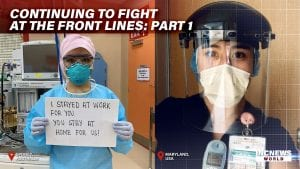 Medical Professionals pose with masks