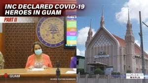 Governor of Guam speaks; Church Of Christ Chapel in Guam.