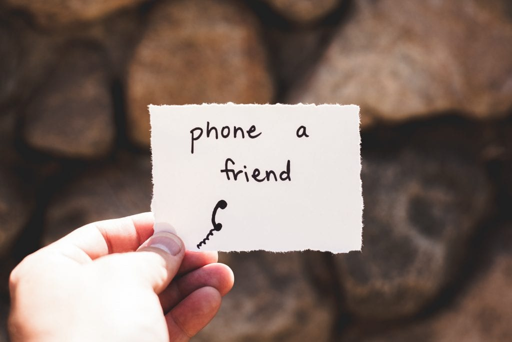 Phone a friend on a piece of paper