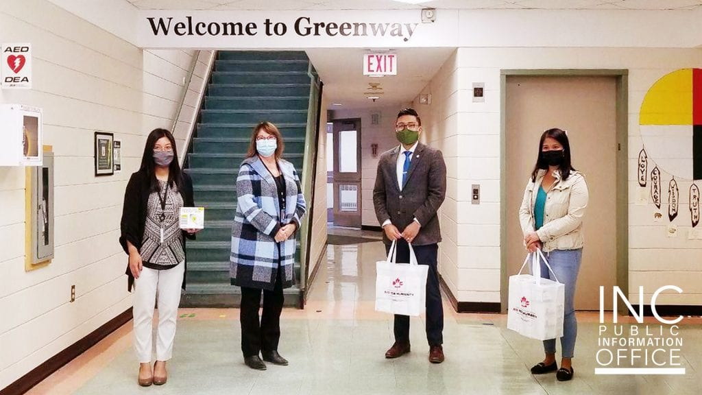 Greenway Community School was one of 12 institutions across the Canadian Praries who received disposable mask donations from the Iglesia Ni Cristo (Church Of Christ)'s recent Aid To Humanity project.
