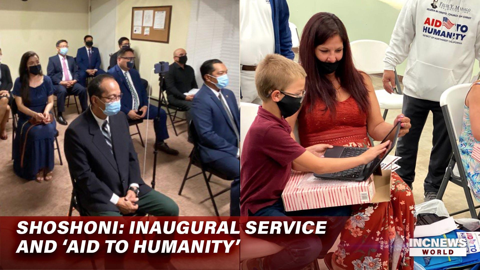 Shoshoni: Inaugural Service and 'Aid to Humanity'